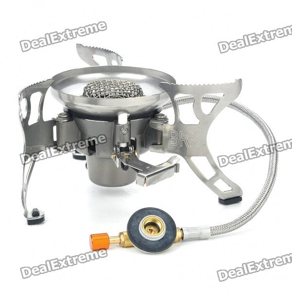 Portable Outdoor Camping Windproof Butane Stove with Metal Pipe