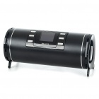 "1.4"" LCD USB Rechargeable MP3 Player Speaker w/ FM/Line In/USB/TF Slot - Black"