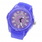 Stylish Water Resistant Quartz Wrist Watch - Purple (1 x 377)