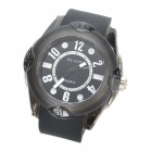 Stylish Water Resistant Quartz Wrist Watch - Black (1 x 377)