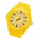Stylish Water Resistant Quartz Wrist Watch - Yellow (1 x 377)