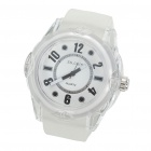Stylish Water Resistant Quartz Wrist Watch - White (1 x 377)