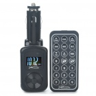 "0,9 ""LCD Car MP3 Player FM Transmitter w / Remote Controller/USB/SD/3.5mm - Black"