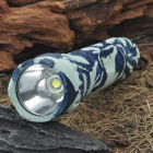 UltraFire WF-501B 5-Mode 700-Lumen LED Flashlight w / Cree XM-LT6 - Camuflaje azul (1 x 18650)