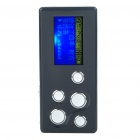 "1.1"" LCD Mini USB Rechargeable MP3 Music Player with Loudspeaker - Black + Silver (2 GB)"