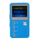 "1.4"" LCD Mini USB Rechargeable MP3 Music Player with Loudspeaker - Blue + Silver (2 GB)"