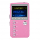 "1.4"" LCD Mini USB Rechargeable MP3 Music Player with Loudspeaker - Pink + Silver (2 GB)"