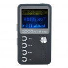 "1.4"" LCD Mini USB Rechargeable MP3 Music Player with Loudspeaker - Black + Silver (2 GB)"