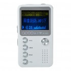 "1.4"" LCD Mini USB Rechargeable MP3 Music Player with Loudspeaker - White + Silver (2 GB)"