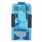 Genuine Rock Sport Outdoor Camouflage Cell Phone Holster Case with Armband + Compass - Blue
