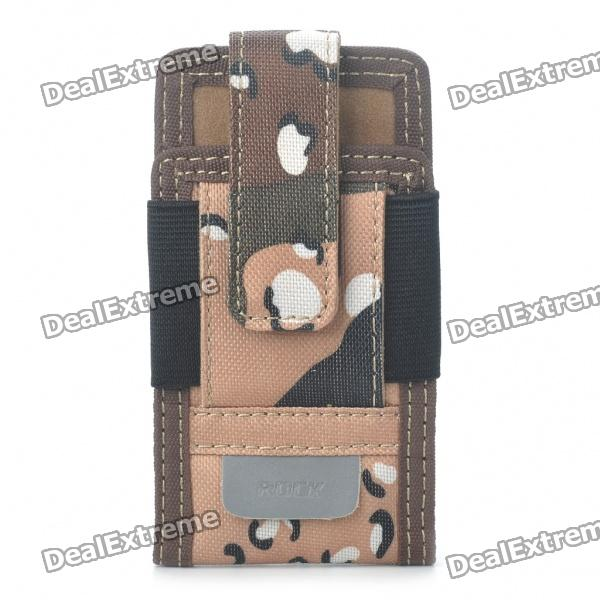 Genuine Rock Sport Outdoor Camouflage Cell Phone Holster Case with Armband + Compass - Desert Yellow