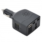 100W Car DC 12V to AC 110V Power Inverter w/ USB Power Port - Black
