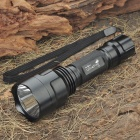 UltraFire C8 CREE Q5 5-Mode 230-Lumen White LED Flashlight w/ Battery Charger - Black (1 x 18650)