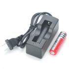 UltraFire C8 5-Mode 230-Lumen White LED Flashlight w/ Battery Charger - Black (1 x 18650)