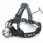 Cree Q5 3-Mode 240-Lumen White LED Headlamp - Black (2 x 18650)
