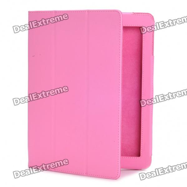 Stylish Protective PU Leather Case for   Ipad 2 - Pink