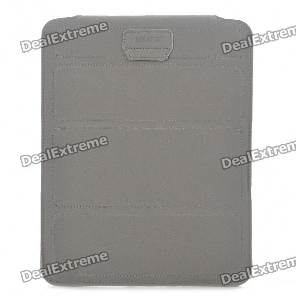 ROCK Stylish Protective Microfiber Case Bag for iPad 2 - Grey