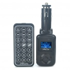 "0,9 ""LED Car MP3 Player FM Transmitter w / FM / Remote Control/USB/3.5mm/SD - schwarz (2GB)"