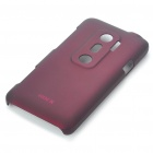 ROCK Protective PC Back Case w/ Screen Guard/Cleaning Cloth for HTC EVO 3D - Wine Red