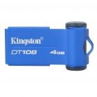 Genuine Kingston Data Traveler USB 2.0 USB Flash Drive - Blue (4GB)