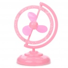 Unique USB/4 x AA Powered 2-Mode 3-Blade Desktop Cooling Fan - Pink