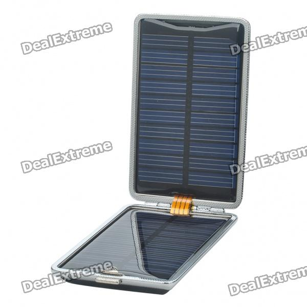 Solar/AC/USB Powered 1500mAh Battery Charger w/ Charging Adapters