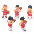 Cute SLAM DUNK Series Action Figures with Keychains (5-Piece Set)