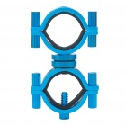 Universal Adjustable Aluminum Alloy Cycling Bicycle Flashlight Torch Mount Holder - Blue
