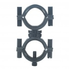Universal Adjustable Aluminum Alloy Cycling Bicycle Flashlight Torch Mount Holder - Black