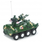 27MHz 2-CH R/C Armored Vehicle Toy with Red/Blue Light & Sound Effect (Green Camouflage)