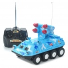 40MHz 2-CH R/C Armored Vehicle Toy with Sound Effect - Blue