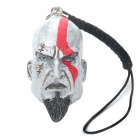 Kratos Head Pattern Vinyl Cellphone Strap