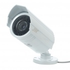 1/3 CCD Water Resistant Surveillance Security Camera w/ 36-LED IR Night Vision - White