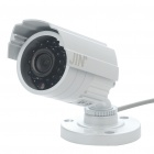 1/3 SONY CCD Water Resistant Surveillance Security Camera w/ 24-LED IR Night Vision - White