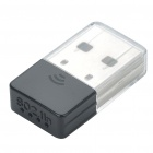 Ultra-Mini 802.11 b / g / n 150Mbps USB WLAN Network Adapter - Black