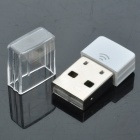 Ultra-Mini 802.11 b / g / n 150Mbps USB adaptador de rede WLAN - Branco