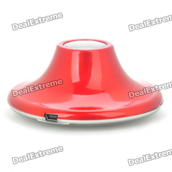 UFO Style Surface Resonance Vibro Speaker - Red (3.5mm Jack)