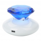 Diamond Style Surface Resonance Vibro Speaker - Blue + White (3.5mm Jack)
