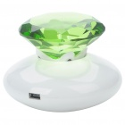 Diamond Style Surface Resonance Vibro Speaker - Green + White (3.5mm Jack)