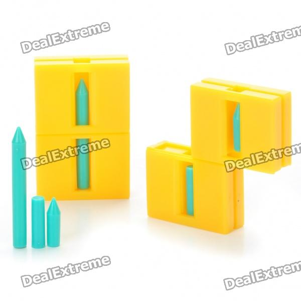 Magic Trick Props Broken Pencil to be Reverted - Yellow (2-Piece Pack)