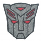 Stylish Embroidery Transformers Autobots Style Decoration Velcro - Red + Grey