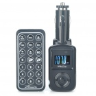 "0,9 ""LCD Car MP3 Player FM Transmitter w / Fernbedienung / USB / SD - Schwarz (DC 12 ~ 24V)"