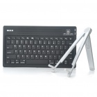 Genuine ROCK 78-Key Silicone Bluetooth Keyboard with Stand Holder for Ipad 2 - Black