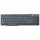Genuine HYUNDAI USB Wired 104-Key Business Keyboard - Black
