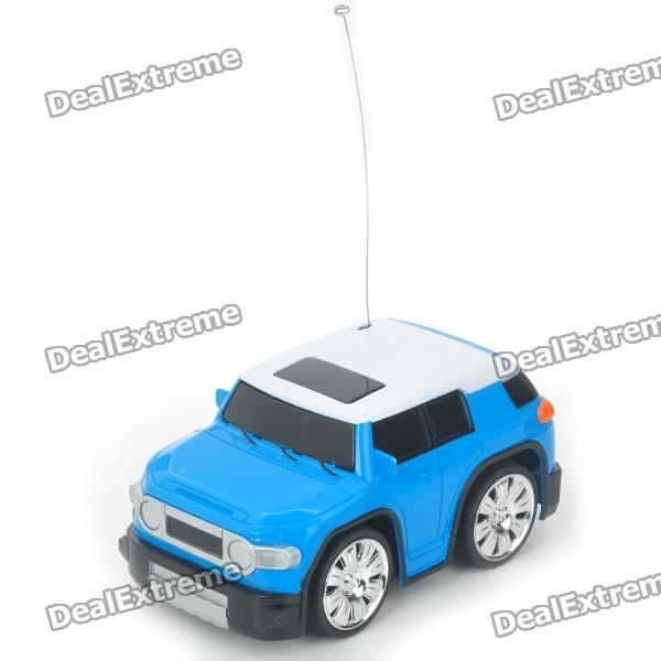 Cool 2-Channel R/C Mini Car with Remote Controller - Blue + White (27MHz) 9099 20e r c 4 channel ir controlled wall climber vehicle model toy yellow blue black