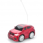 Cool 2-Channel R/C Mini Car with Remote Controller - Red + Black (27MHz)