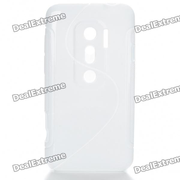 Protective TPU S Back Case Cover for HTC EVO3D - White