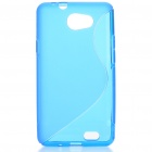 Protective TPU S Back Case Cover for Samsung Galaxy Z i9103 - Sky Blue