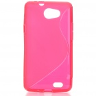 Protective TPU S Back Case Cover for Samsung Galaxy Z i9103 - Red