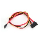 SATA 7+15 pin to SATA 7P+ power cable - Black (40cm)